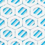 Naadloos hexagon patroon Vector Abstract Modern Ontwerp Stock Foto's
