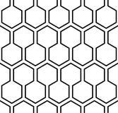 Naadloos hexagon patroon Vectoreps 10 Stock Fotografie