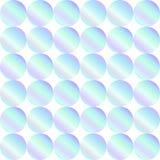 Naadloos holografisch abstract patroon Geometrische die druk uit cirkels op witte achtergrond wordt samengesteld hologram Royalty-vrije Stock Foto