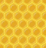 Naadloos honingraatpatroon Stock Afbeelding