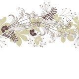 Naadloos horisontal bloemenpastelkleurpatroon Stock Foto