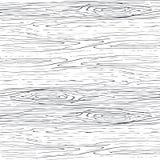 Naadloos houten korrel grijs patroon Houten textuur vectorachtergrond stock illustratie