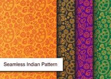Naadloos Indisch Gedetailleerd en gemakkelijk editable Patroon - Stock Afbeeldingen