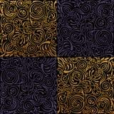 Naadloos Islamitisch bloemenpatroon Uitstekend gouden ornament Bloem betegelde textuur vierkante Vector als achtergrond vector illustratie