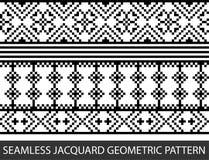 Naadloos jacquard geometrisch patroon in vector grafisch Stock Fotografie
