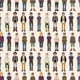 Naadloos jonge mensenpatroon Stock Fotografie