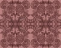 Naadloos kant Bourgondië op roze achtergrond Stock Afbeelding