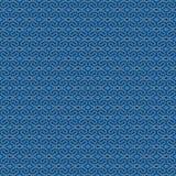 Naadloos kanten 3D behang, met abstract blauw patroon, Stock Fotografie