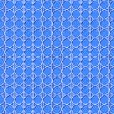 Naadloos kanten patroon Wit die netachtergrond op blauw herhalen Royalty-vrije Stock Foto