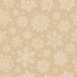 Naadloos kartonpatroon met sneeuwvlok. Stock Foto's