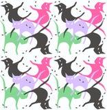 Naadloos kattenpatroon Royalty-vrije Stock Afbeeldingen