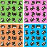 Naadloos kattenpatroon Stock Foto's