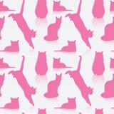 Naadloos kattenpatroon vector illustratie