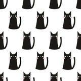 Naadloos kattenpatroon Royalty-vrije Stock Fotografie