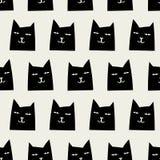 Naadloos kattenpatroon Stock Afbeeldingen