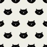 Naadloos kattenpatroon Stock Afbeelding