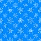 Naadloos Kerstmis blauw patroon met getrokken Stock Foto