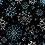 Naadloos Kerstmis zwart patroon (vector) Stock Foto's