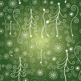 Naadloos Kerstmispatroon stock illustratie