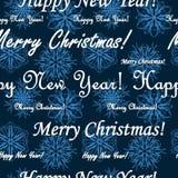 Naadloos Kerstmispatroon Royalty-vrije Stock Afbeeldingen