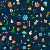 Naadloos Kerstmispatroon royalty-vrije illustratie