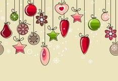 Naadloos Kerstmispatroon Royalty-vrije Stock Foto's