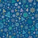 Naadloos Kerstmispatroon Royalty-vrije Stock Foto
