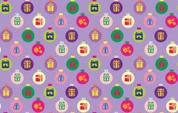 Naadloos Kerstmispatroon Stock Afbeeldingen