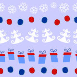 Naadloos Kerstmispatroon vector illustratie