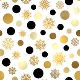 Naadloos Kerstmispatroon Het Behang van het nieuwjaar Stock Foto's