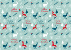 Naadloos Kerstmispatroon, vector Stock Afbeeldingen