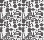 Naadloos keukenpatroon vector illustratie
