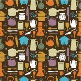 Naadloos keukenpatroon stock illustratie