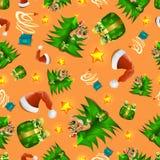 Naadloos kind ` die s nieuwe jaar en Kerstmis trekken naadloos patroon 2018 Vector beeld vector illustratie