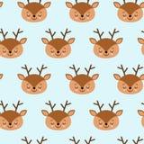 Naadloos kinderachtig patroon met leuke herten Creatieve jonge geitjestextuur voor stof, het verpakken, textiel, behang, kleding royalty-vrije illustratie
