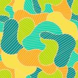 Naadloos kleuren hand-drawn patroon Abstracte textuur Stock Foto's