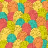 Naadloos kleuren hand-drawn patroon Abstracte textuur Royalty-vrije Stock Fotografie