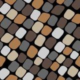 Naadloos kleurenpatroon met straatstenen royalty-vrije illustratie
