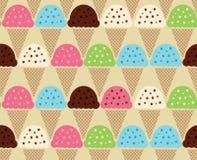 Naadloos kleurenpatroon van Roomijsachtergrond Stock Foto