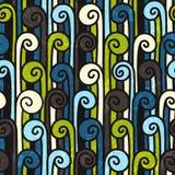 Naadloos kleurrijk abstract patroon. stock illustratie