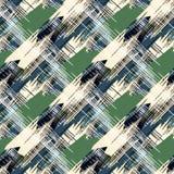 Naadloos kleurrijk abstract patroon Beige, groene, zwarte druk Stock Fotografie