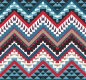 Naadloos kleurrijk Azteeks patroon Stock Afbeelding