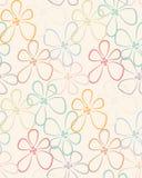 Naadloos kleurrijk bloempatroon Stock Foto