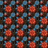 Naadloos kleurrijk de zomer bloemenpatroon Stock Afbeeldingen