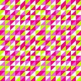 Naadloos Kleurrijk Driehoekspatroon De achtergrond van het document Geomet Stock Afbeelding