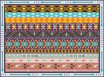 Naadloos kleurrijk geometrisch stammenpatroon Stock Foto's