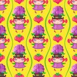 Naadloos kleurrijk patroon met Blackberry-fruitmeisje Het kan voor prestaties van het ontwerpwerk noodzakelijk zijn stock illustratie