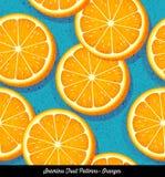 Naadloos kleurrijk patroon van gesneden sinaasappelen vector illustratie
