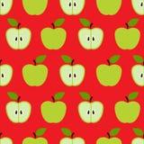 Naadloos kleurrijk retro appelpatroon Stock Fotografie