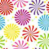 Naadloos kleurrijk spiraalvormig patroon Stock Fotografie